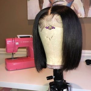Bob closure unit wig